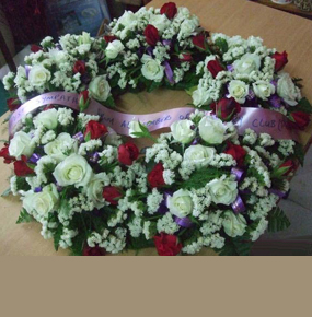 Mix Round Funeral Wreath