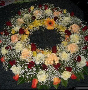 Bright Mixed Round Wreath