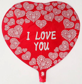 I LOVE YOU Helium Balloon