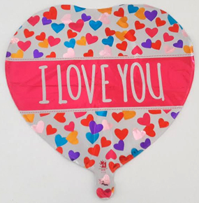 i LOVE YOU MUM Multicolored Multicolored Balloon