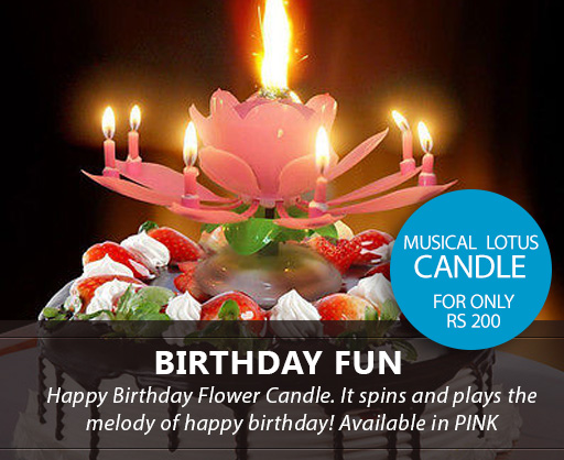 Lotus Birthday Musical Candle