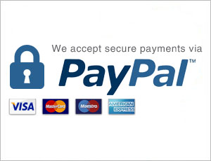 Secure payment with Paypal. Or pay by Juice
